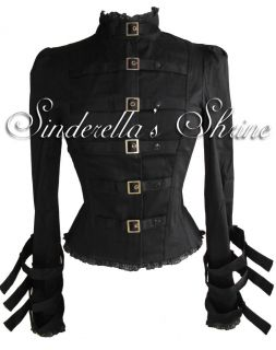 Spin Doctor Steampunk Foggy Military Corset Jacket Goth