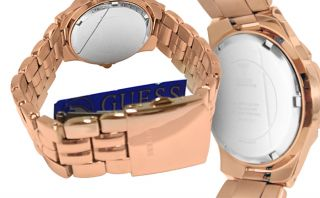 Guess U11069L1 Rose Gold Dial Stainless Steel Bracelet Women Watch New