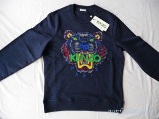 New SS 2013 Kenzo Paris Tiger Sweater sweat Shirt Jumper Blue Unisex