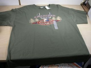 New American Big Game Hunting Green T Shirt 2XL