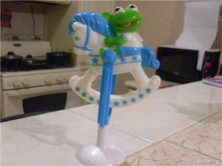 Vintage 1989 Sesame Street Kermit The Frog Figure Doll  L K