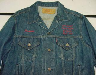 1985 LEVIS DENIM JEAN JACKET KENNY LOGGINS VOX HUMANA WORLD TOUR Sz 44