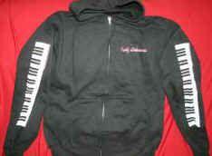Kelly Osbourne Zipper Hoodie Sweatshirt Black Size Large