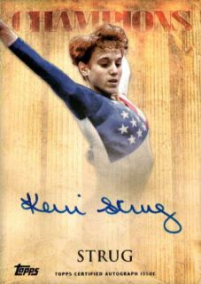 KERRI STRUG RARE 2012 TOPPS OLYMPIC CHAMPIONS ON CARD AUTOGRAPH AUTO