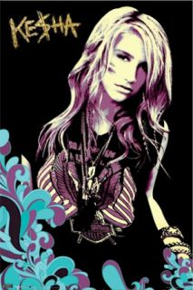 Kesha Poster Set of 3 Maxim Lingerie 22x34 Lot Music Harley Davidson