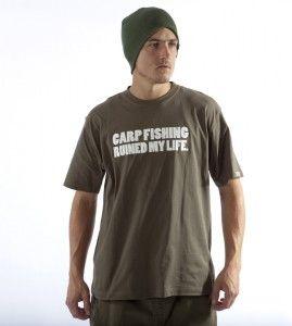 Diem Angling Carp Fishing Ruined My Life T Shirt Green