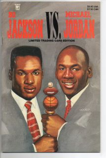 Celebrity Comics Bo Jackson vs Michael Jordan 1992 1 VF 1st Print 550
