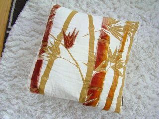 Kevin OBrien Studio Anthropologie Bamboo Velvet Linen Throw Pillow