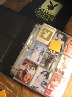 PLAYBOY CENTERFOLD COLLECTOR CARDS. BINDER & CASE & PAGES   GREAT GIFT