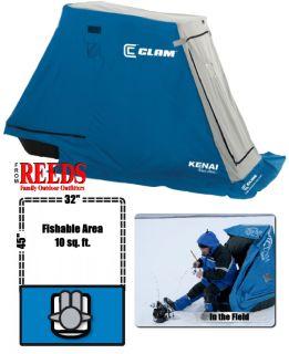 Clam Kenai 1 Man Ice Fishing Shelter House 8391