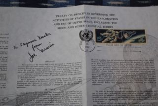 Signed NASA Astronaut Joseph Joe Kerwin FDC Skylab 2 Apollo