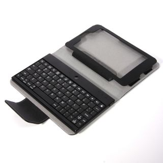 Nexus 7 Tablet Black Bluetooth Keyboard Stand Leather Case Cover