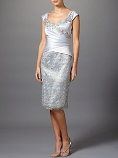 Anoushka G Melanie ruched dress Silver