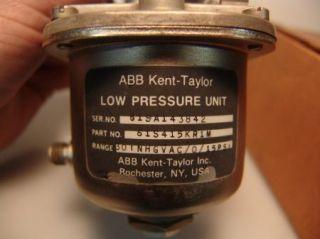 ABB Kent Taylor Low Pressure Unit 0 15 PSI 61S415KR1M