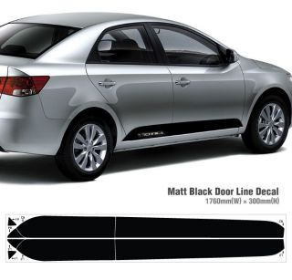 Line Decal Sticker Black Chrome Fit Kia Cerato Sedan 2010 2012