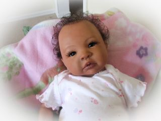 Reborn Baby Doll Human Hair Sweet Baby Girl Shyann by Aleina Peterson