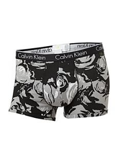 Calvin Klein 2 pack rose print trunk in a gift box Black
