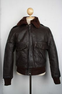 Superb Vintage Cooper Leather Jacket Pilot Aviator Flight G 1 38