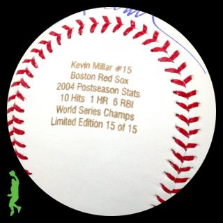 Kevin Millar Signed Auto 2004 World Series Champs Baseball Ball Red