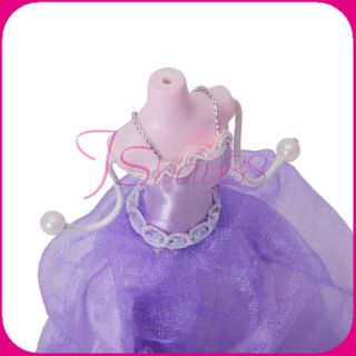 Mini Gown Lady Mannequin Earring Jewelry Display Holder