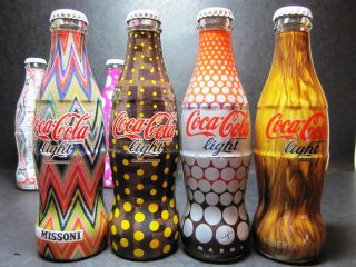 Coca Cola Coke Italy Tribute Fashion 8 Bottles