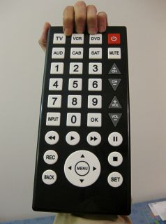 New Black Jumbo Large 6X Universal Remote with Glow in Dark Buttons