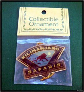 Disney Animal Kingdom Brass Kilimanjaro Safari Ornament