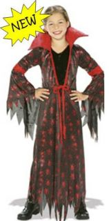 Black Spider Queen Witch Costume Dress Up 12 14
