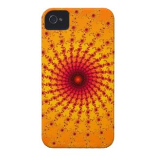Orange & Red Spiral Fractal iPhone 4/4S Case iPhone 4 Case Mate Cases
