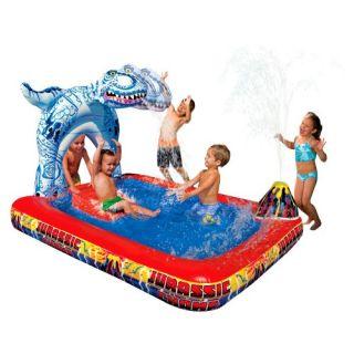 Banzai Kids Play Swimming Pool Water Park Slide Chomp