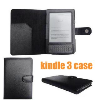Leather Case Flip Pouch Skin Cover For  Kindle 3 3G WIFI eReader