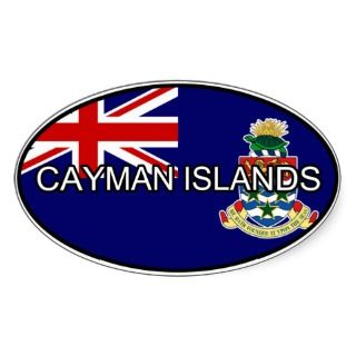 Cayman Islands Euro Sticker
