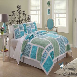 Sea Floral Twin Full Queen King Size Quilt Cotton Bedding Set