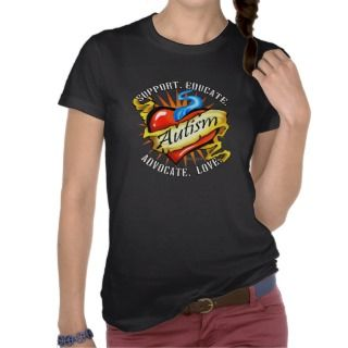 Autism Classic Heart Tattoo T Shirt