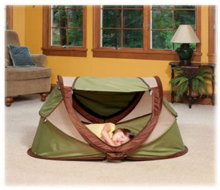 Kidco Peapod Plus Portable Infant Travel Bed Tent Sagebrush P204 New