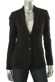 Elie Tahari New Kimberly Black Long Sleeves Two Button Blazer Jacket 2
