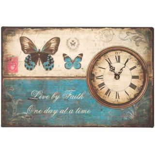 Live by Faith One Day at A Time Clock