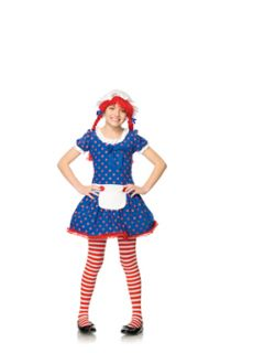 Adorable Rag Doll Kids Halloween Costume