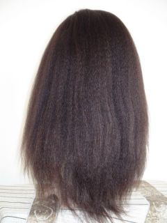 Remy Human Hair 184 Kinky Straight Full Lace Wig