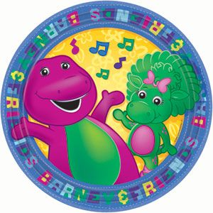 Kids Birthday Party Supplies Barney Theme