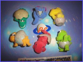 Kinder Surprise Set Cute Baby Dinosaurs Felt 2008