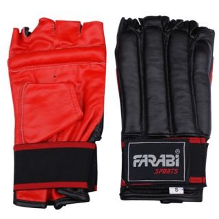 Leather Punch Bag Mitt Kick Boxing Sparing Gloves