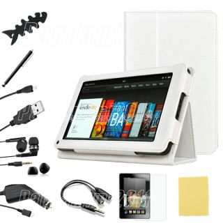 Leather Case Cover Protector Accessory Bundles for Kindle Fire