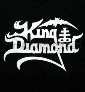 King Diamond KD Logo White on Black T Shirt Official Fast SHIP
