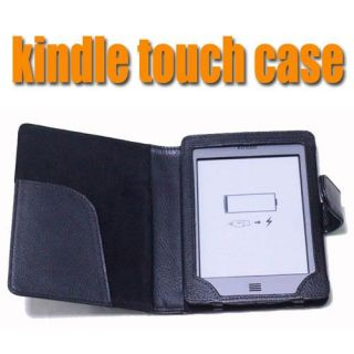 Folio PU Leather Case Cover Pouch for eBook  Kindle Touch