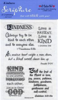 Kindness Scripture Stickers Scrapbooking Bible Verses Christian Crafts