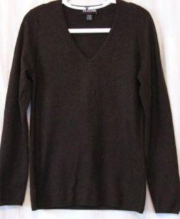 Kirkland Signature Brown Cashmere V Neck Sweater Sz XL