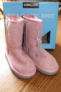 Kirkland Kids Sheepskin Baby Pink Boots Size 13 Toddler New