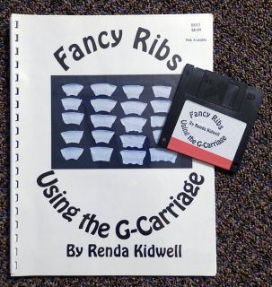 Using The G Carriage Disk Book Renda Kidwell Knitting Machine