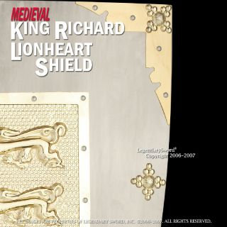 King Richard The Lionheart Medieval Crusader Shield Armor Wall Sword